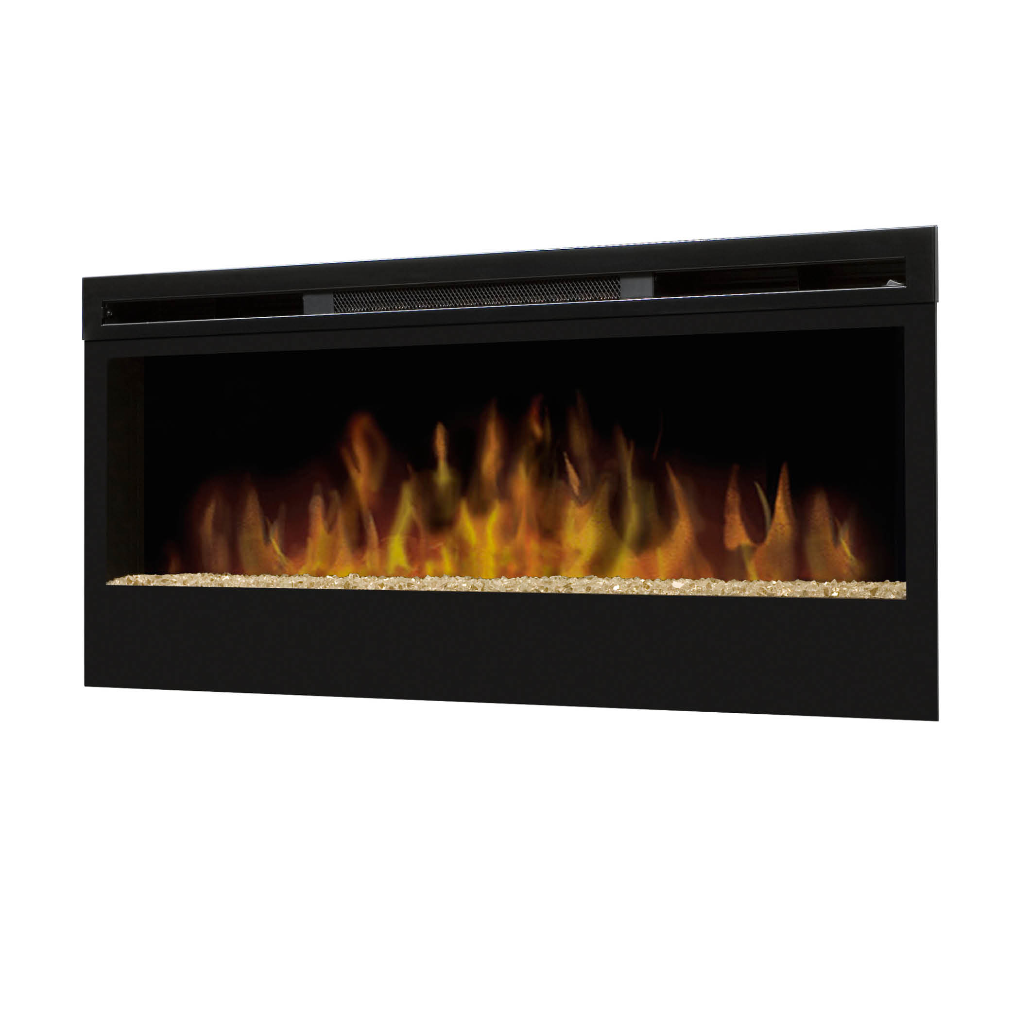 Synergy wall mounted electric fire with glass flame bed for Fireplace bed