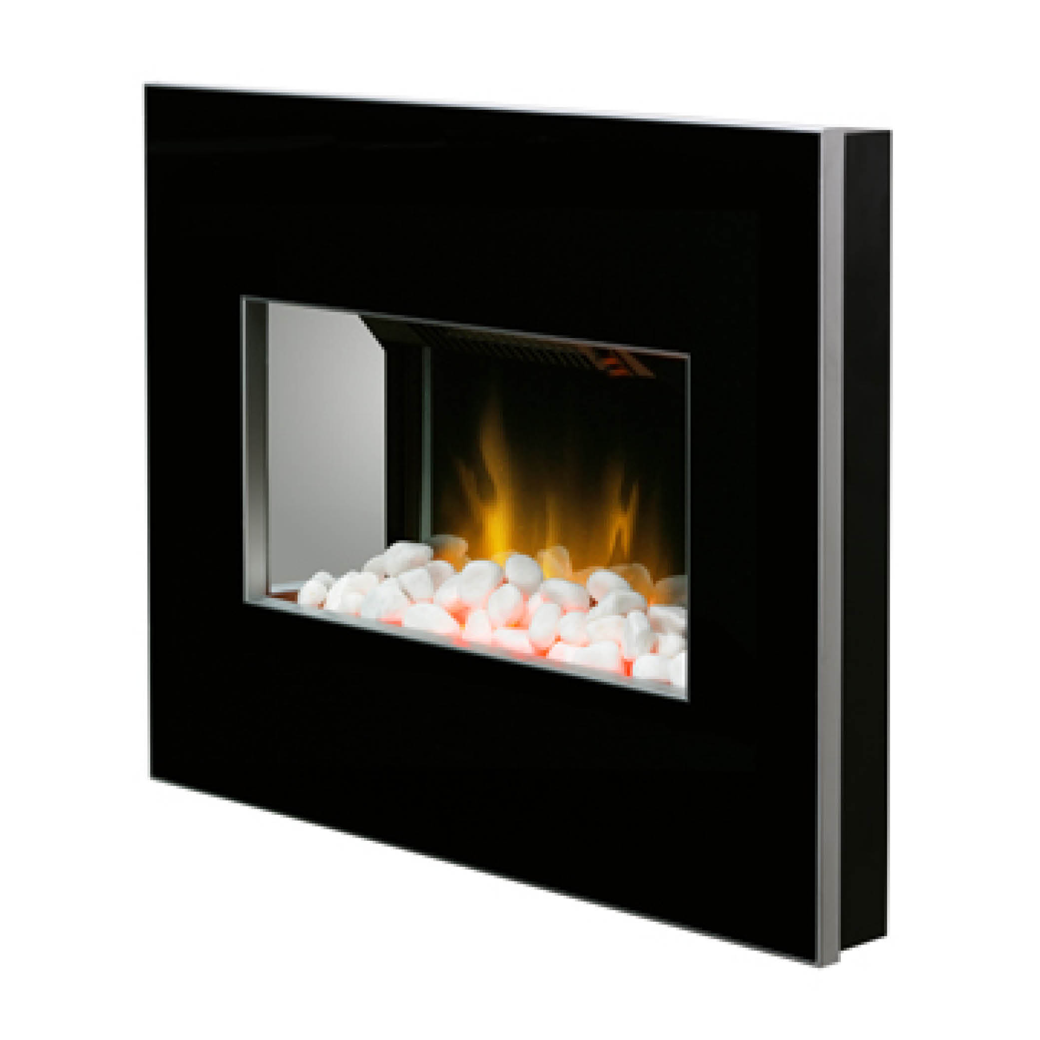 Clova Black White 2kW Wall Mounted Electric Fire Model