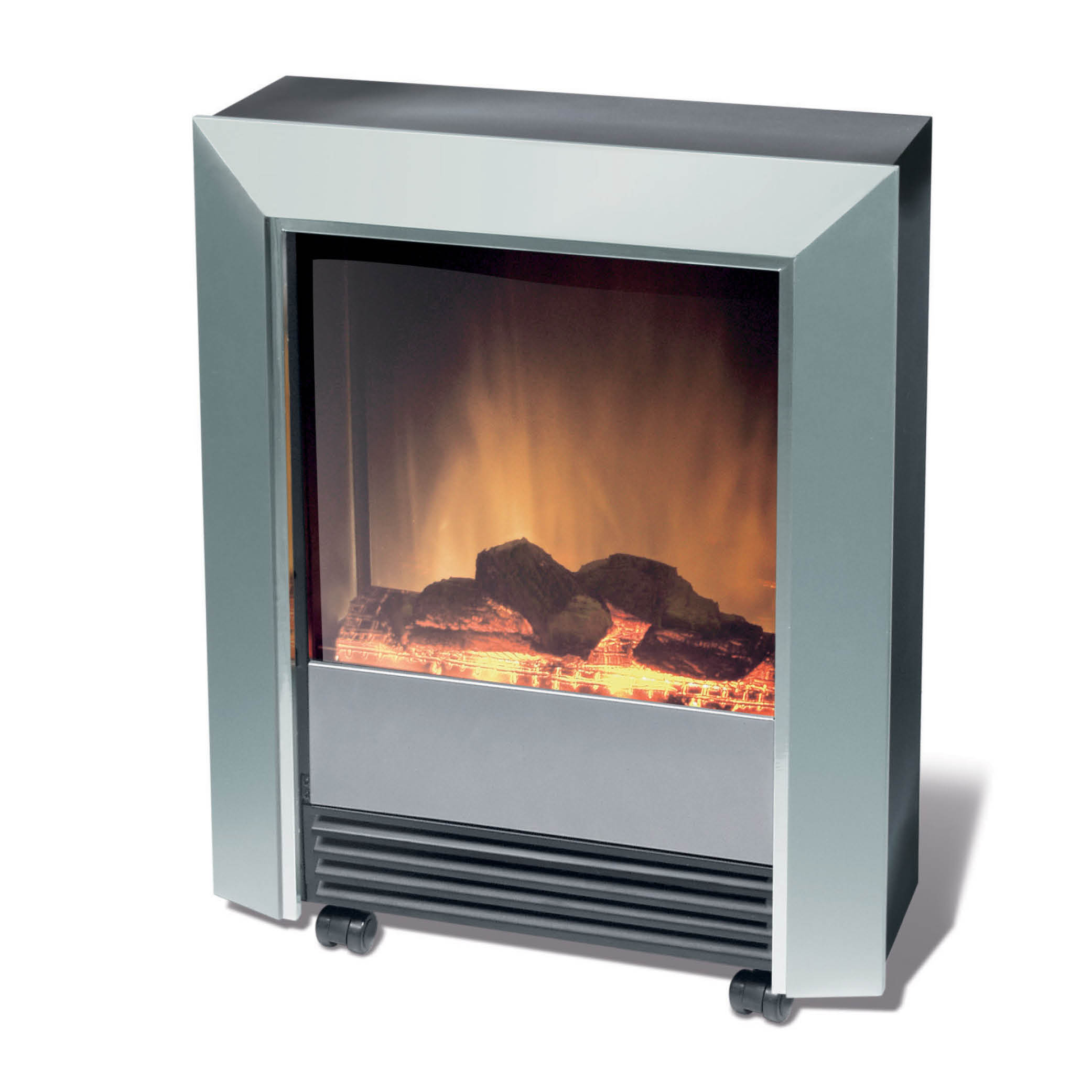 Lee Silver 2kw Portable Electric Fire Model Lee Silver