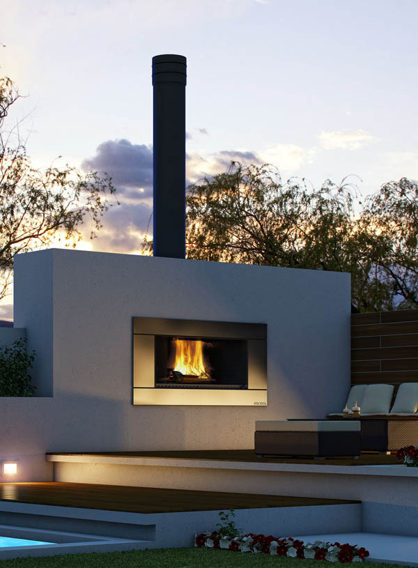 Ew5000 Outdoor Cooking Wood Fire Gold Coast Fireplace