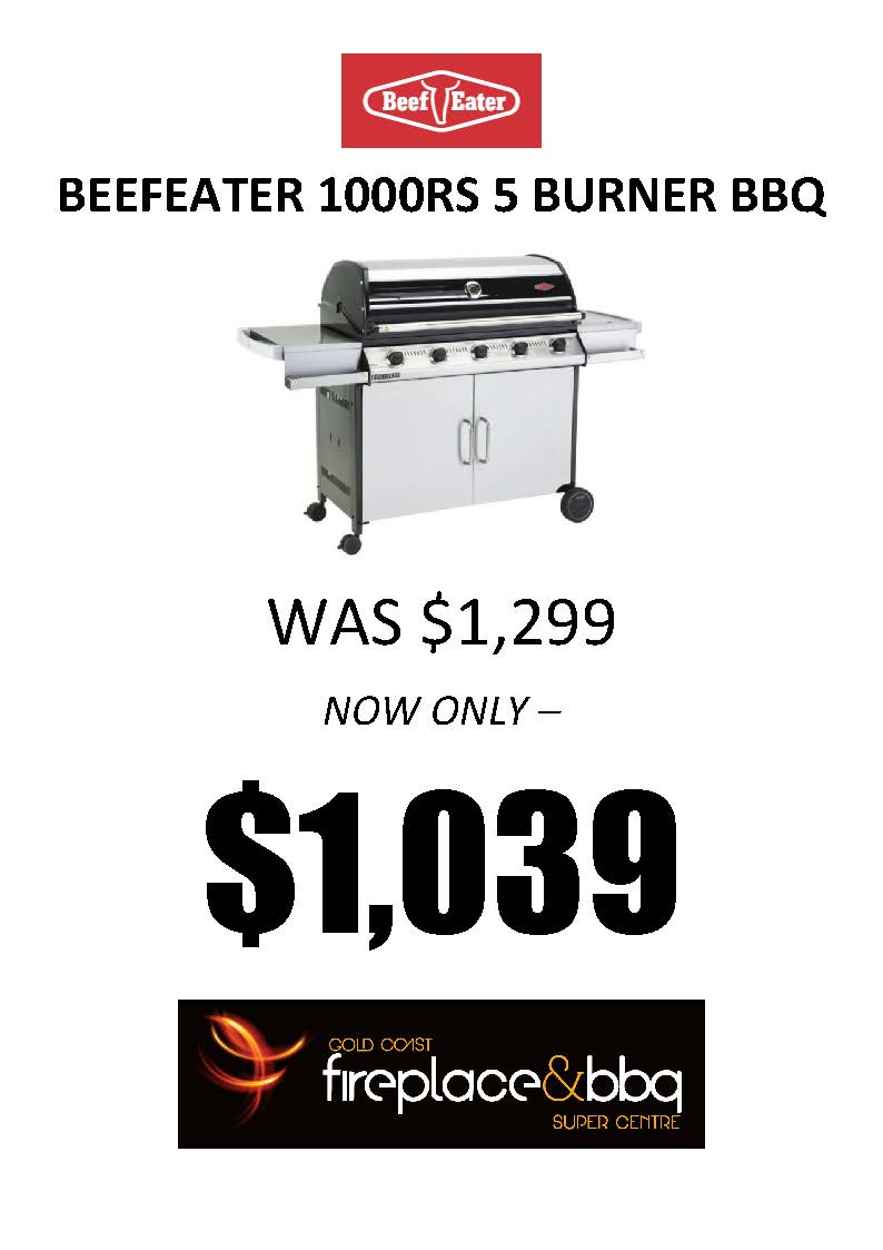 BEEFEATER 1000RS 5 BURNER BBQ SALE